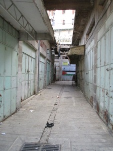 Closed Palestinian businesses in and around Hebron's Old City. — Photo by Philipp Lausberg.