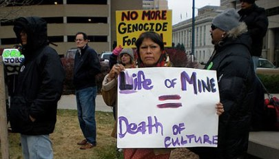 Navajo protesters fighting the expansion of the Navajo Coal Mine. Image from Sierra Club/Wahleah Johns