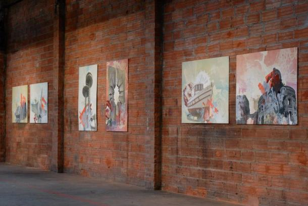 "Installation view, Frol Boundin's ""Last Monuments""  Image courtesy of Frol Boundin"