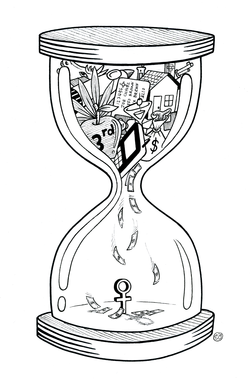 The gallery for --> Broken Hourglass Drawing