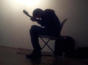 John Dieterich performs during Spirit Abuse's inaugural music show.