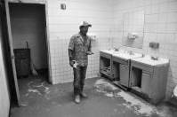 Juan waiting to use the bathroom at 1a.m. —Credit: Joseph Sorrentino