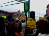 The march begins at the Alvarado Transportation Center —Credit: Robin Brown