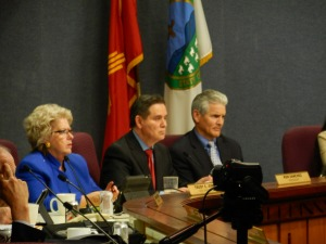 Left to right: Councilors Trudy Jones, Ken Sanchez and Brad Winter —Credit: Robin Brown